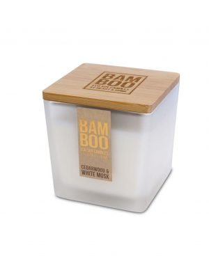 00276700501 Bamboo Large Candle - Cedarwood & White Musk