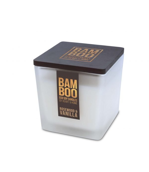 00276700502 Bamboo Large Candle - Rosewood & Vanilla