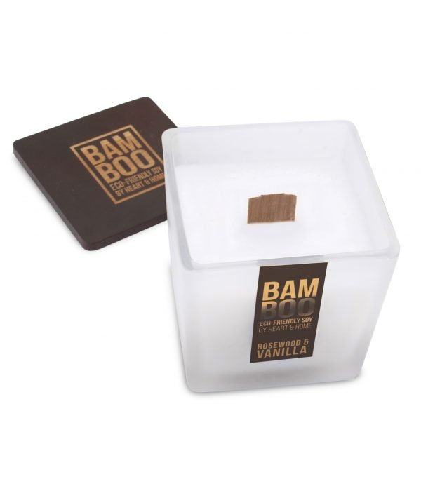 00276700502 Bamboo Large Candle - Rosewood & Vanilla OPEN