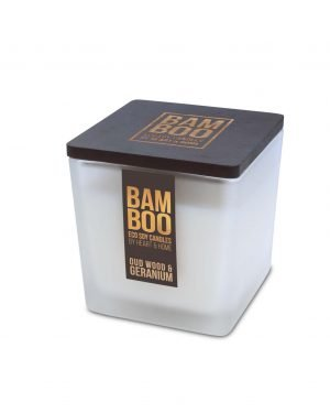 00276700503 Bamboo Large Candle - Oudwood & Geranium