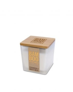 00276710501 Bamboo Small Candle - Cedarwood & White Musk
