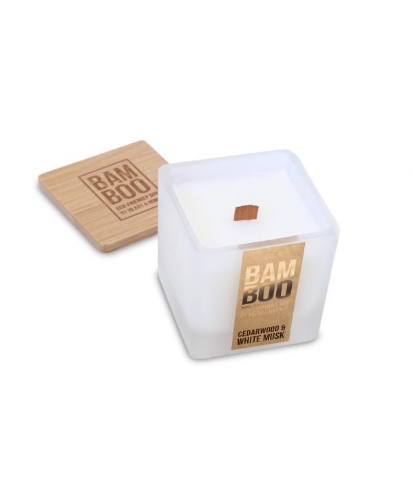 00276710501 Bamboo Small Candle - Cedarwood & White Musk OPEN