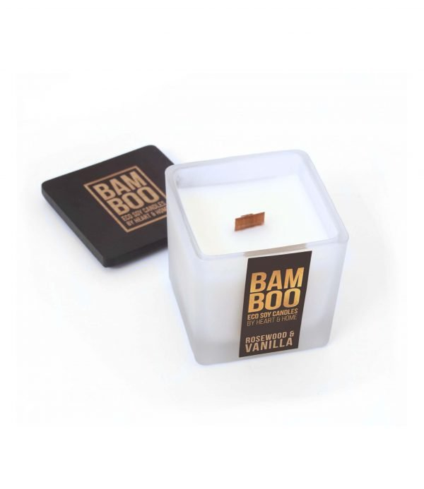 00276710502 Bamboo Small Candle - Rosewood & Vanilla OPEN