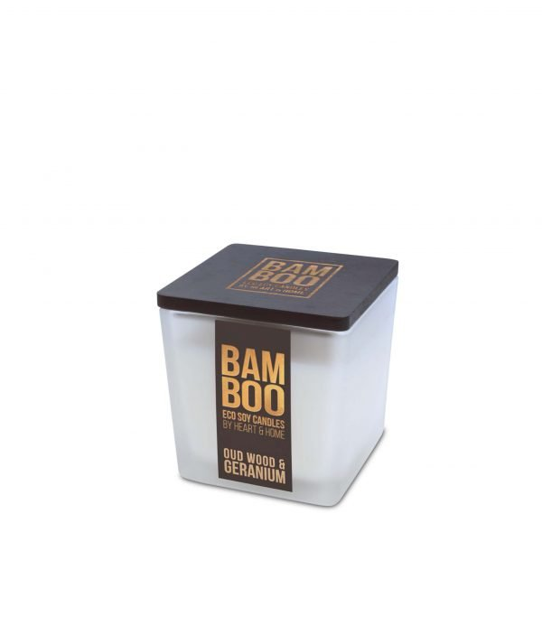 00276710503 Bamboo Small Candle - Oudwood & Geranium